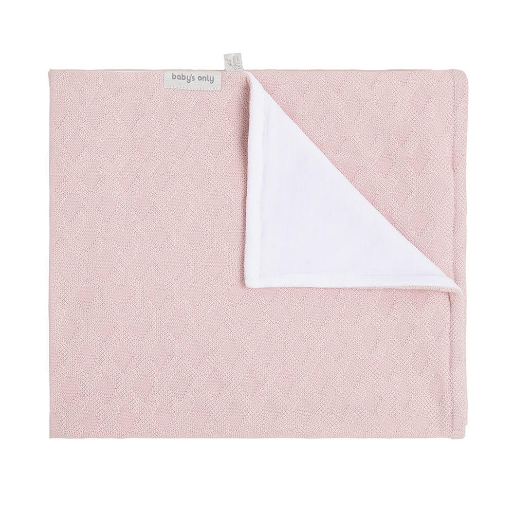 cot blanket chenille reef misty pink
