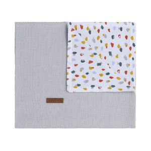 Cot blanket Leaf silver-grey
