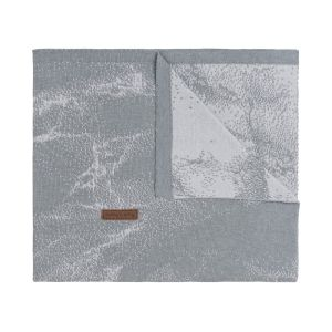 Cot blanket Marble grey/silver-grey