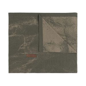 Cot blanket Marble khaki/olive