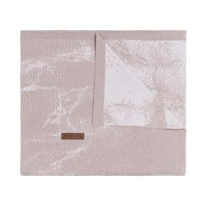 Cot blanket Marble old pink/classic pink