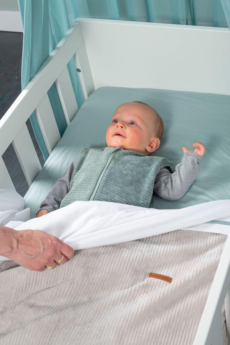 cot blanket sense pebble grey