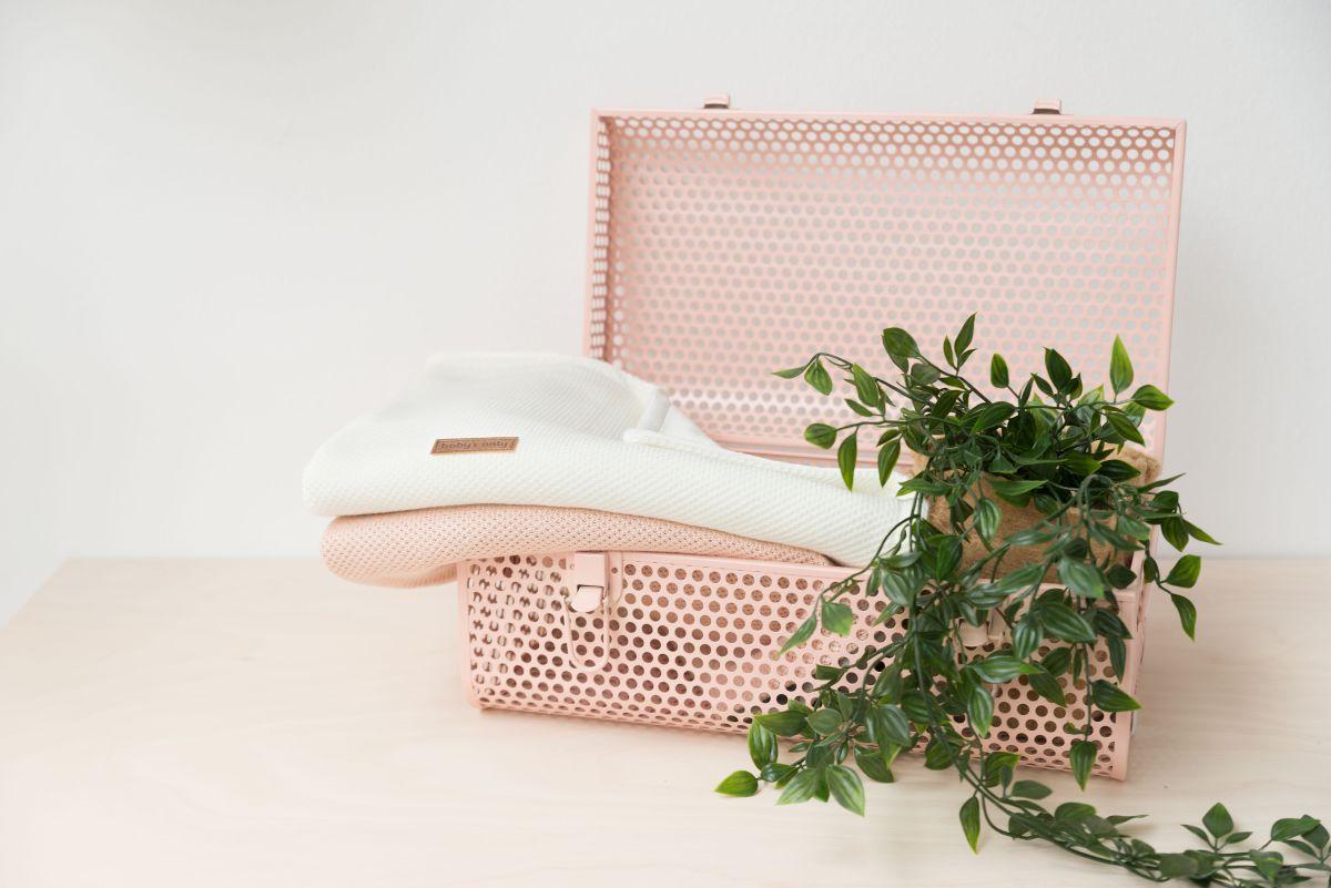 cot blanket soft classic blush