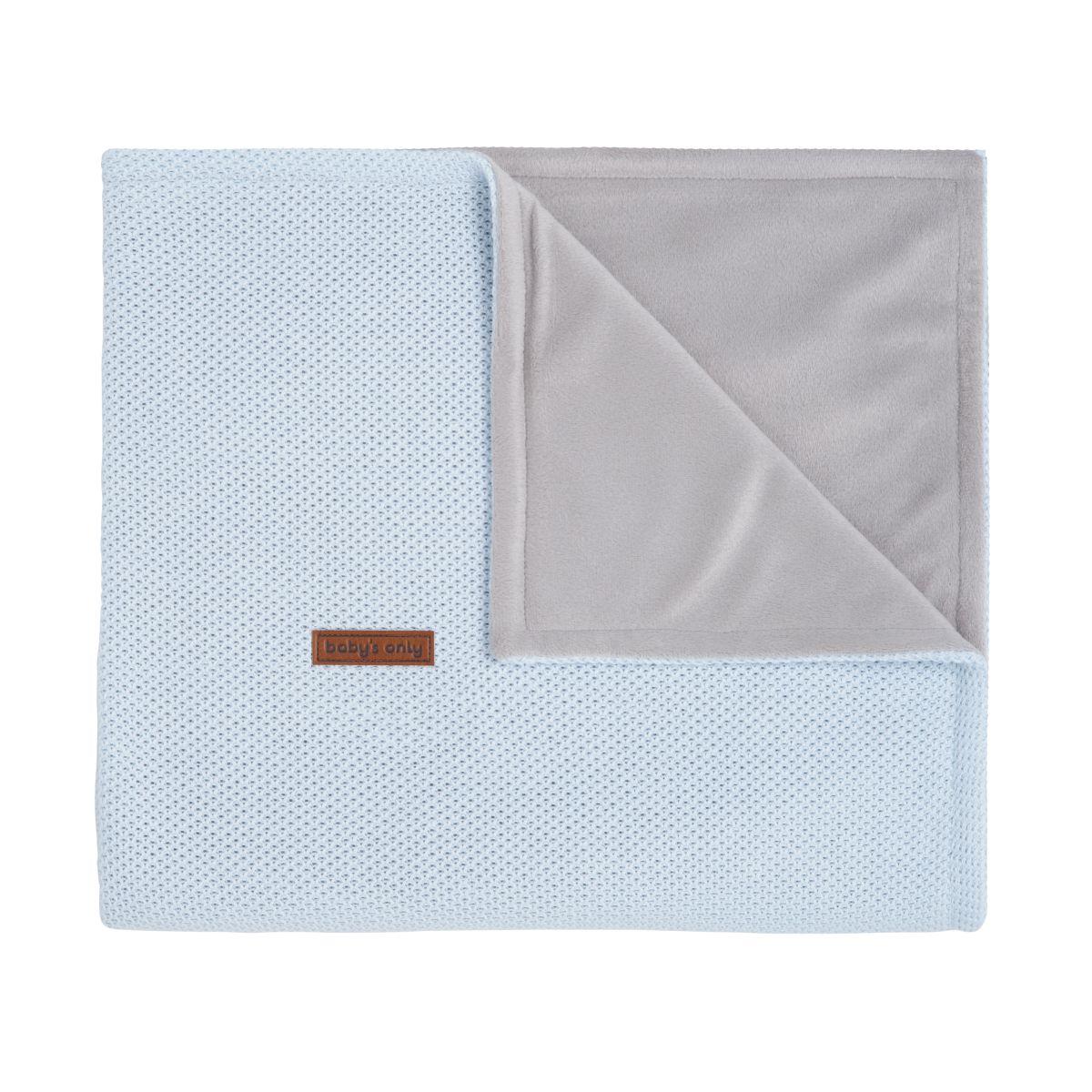 cot blanket soft classic powder blue