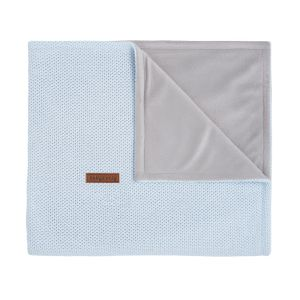 Cot blanket soft Classic powder blue