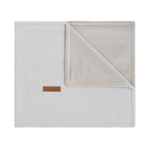 Cot blanket soft Classic silver-grey