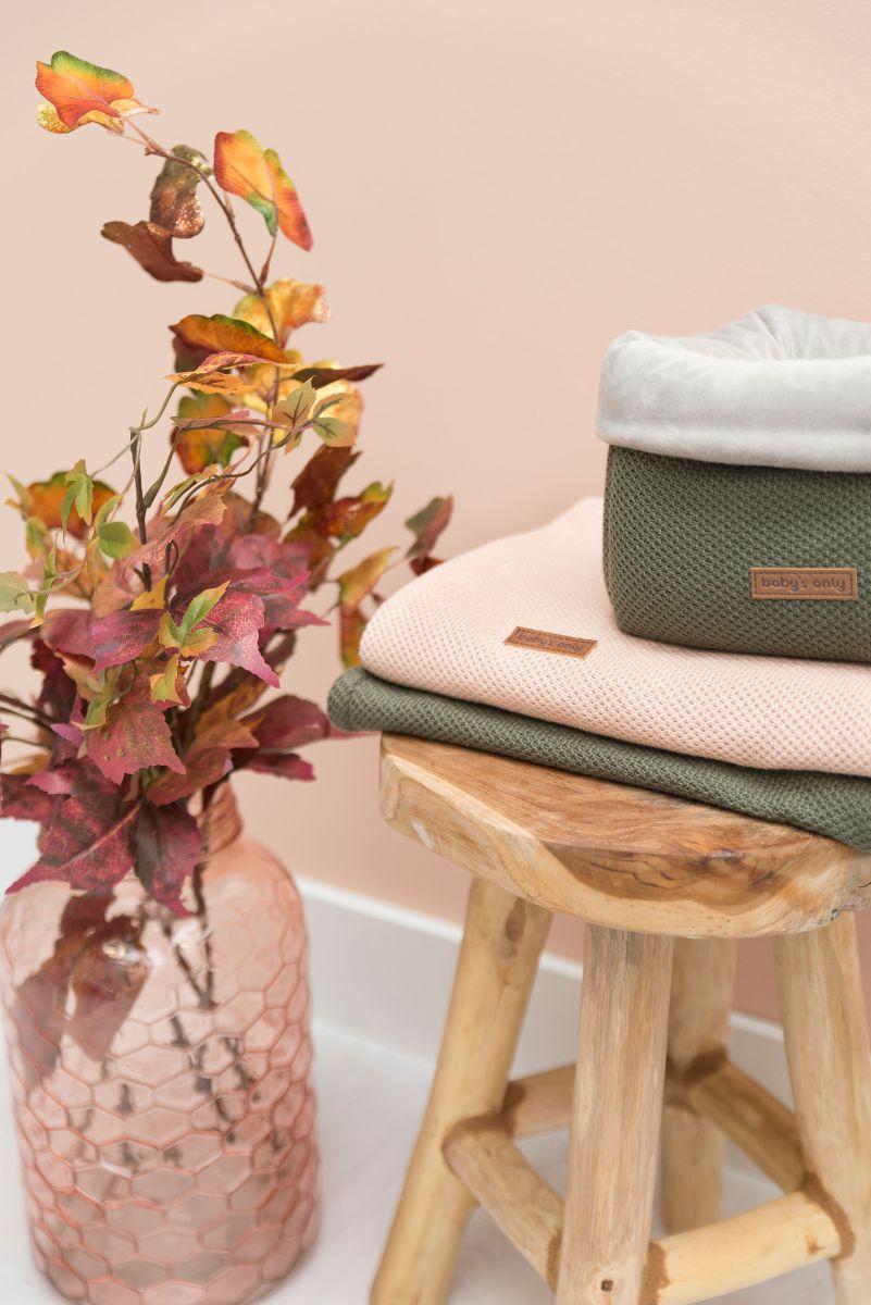cot blanket soft classic silvergrey