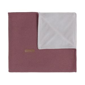 Cot blanket soft Classic stone red