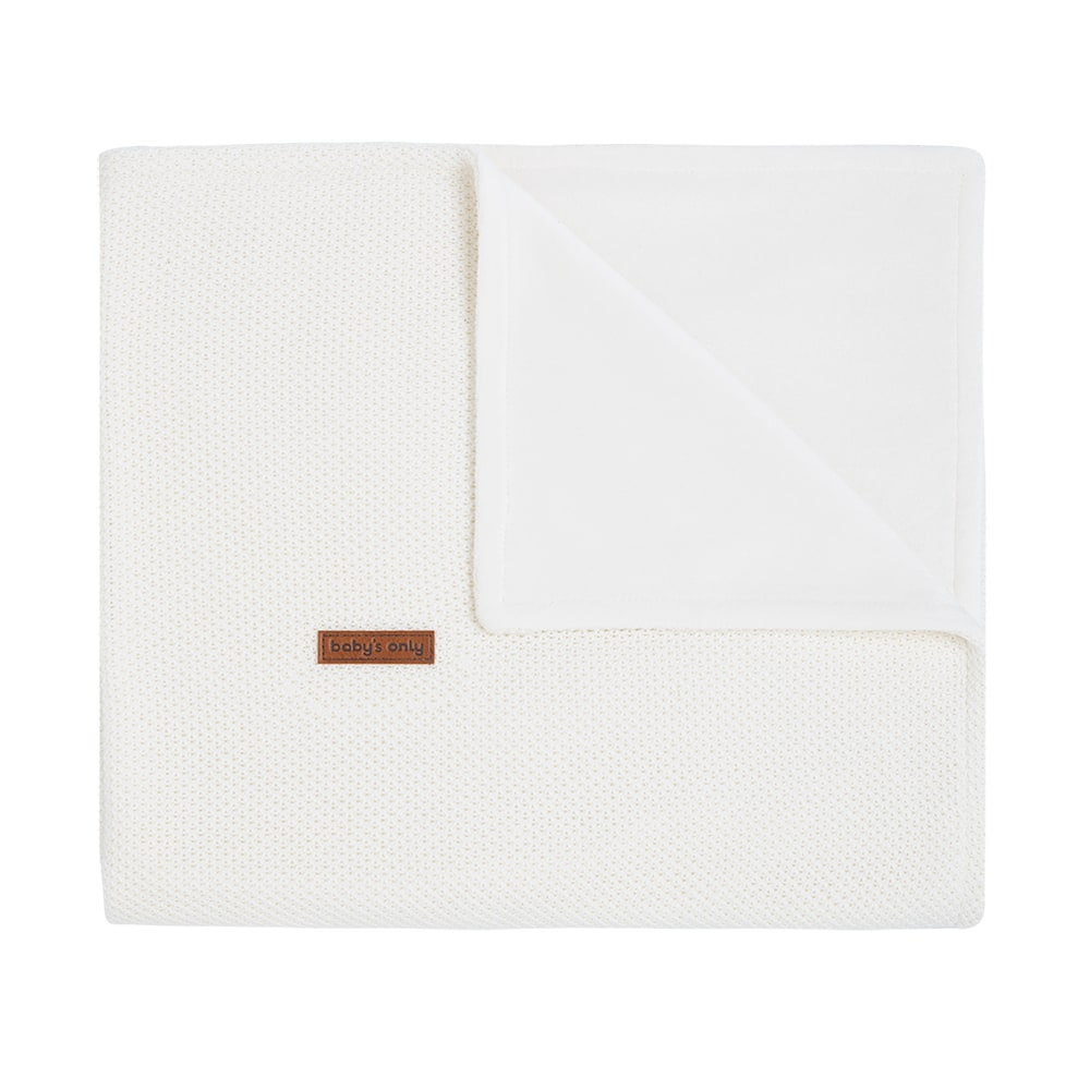 cot blanket soft classic woolwhite