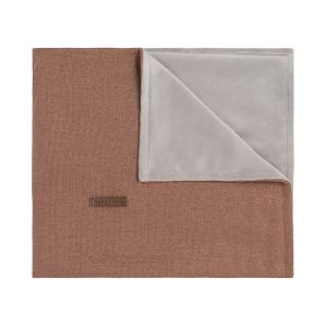 Cot blanket soft Sparkle copper-honey melee
