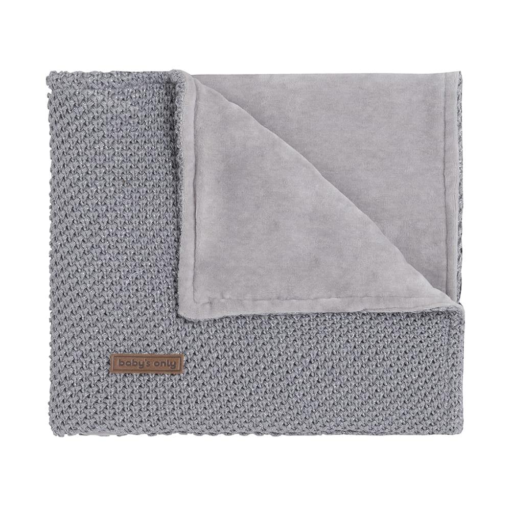cot blanket soft sparkleflavor silvergrey melee