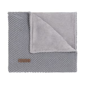Cot blanket soft Sparkle-Flavor silver-grey melee