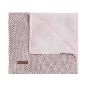 Cot blanket soft Sparkle-Flavor silver-pink melee