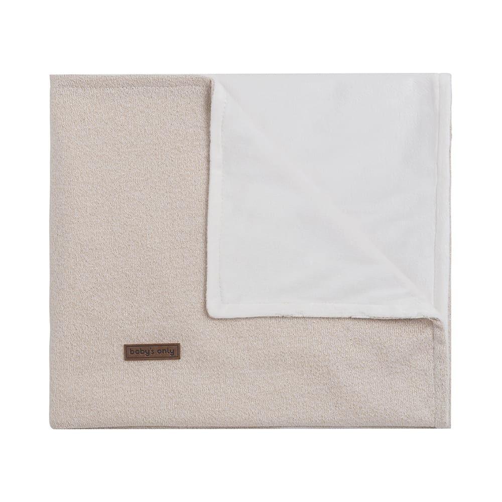 cot blanket soft sparkle goldivory melee