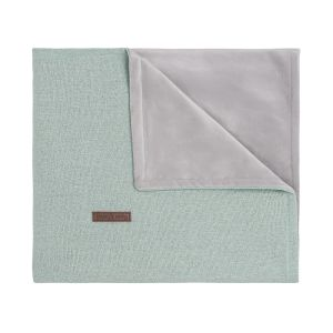 Cot blanket soft Sparkle gold-mint melee