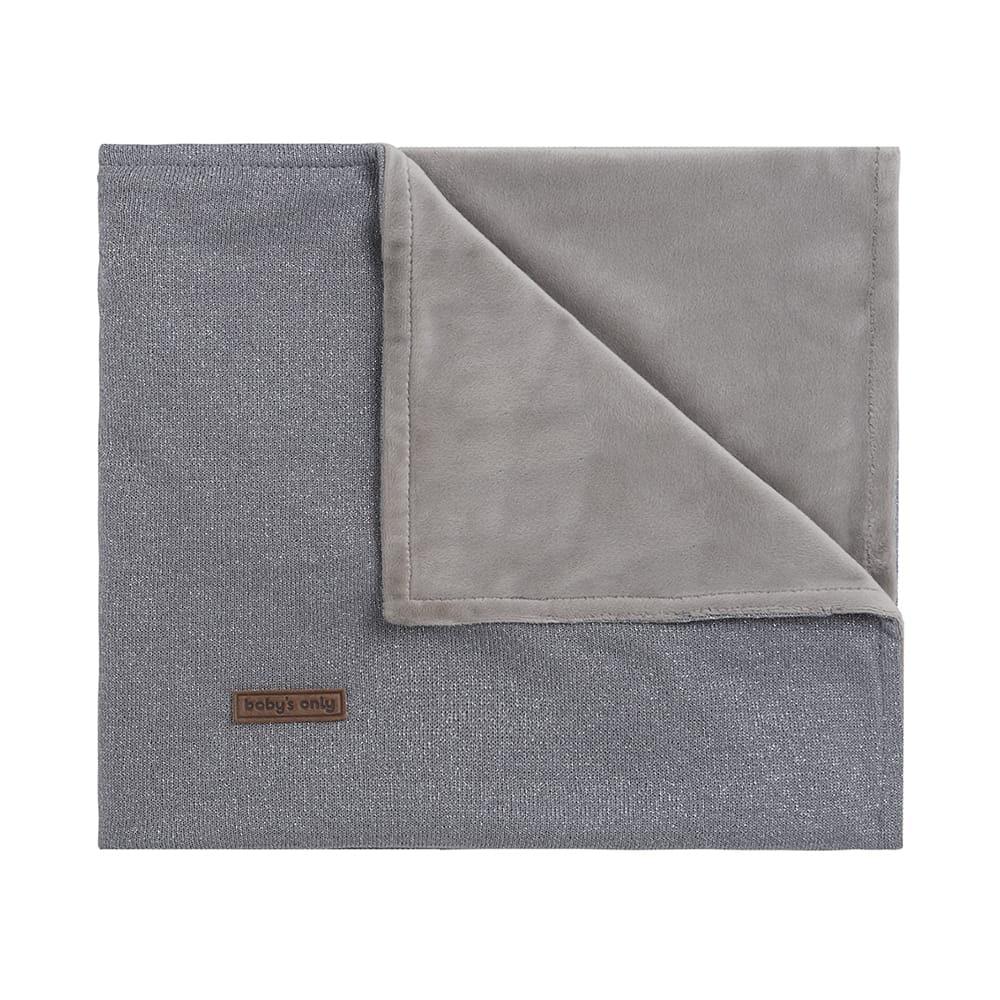 cot blanket soft sparkle silvergrey melee