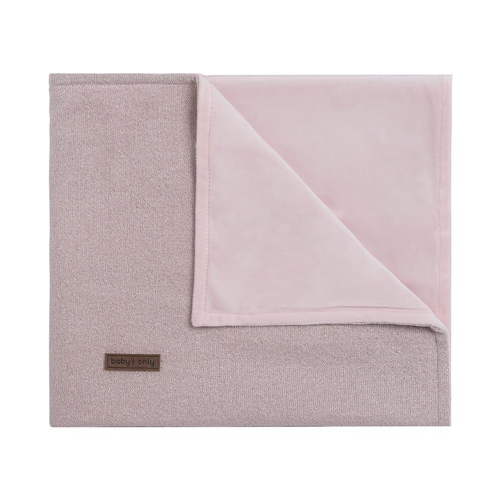 cot blanket soft sparkle silverpink melee