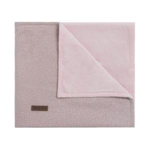 Cot blanket soft Sparkle silver-pink melee