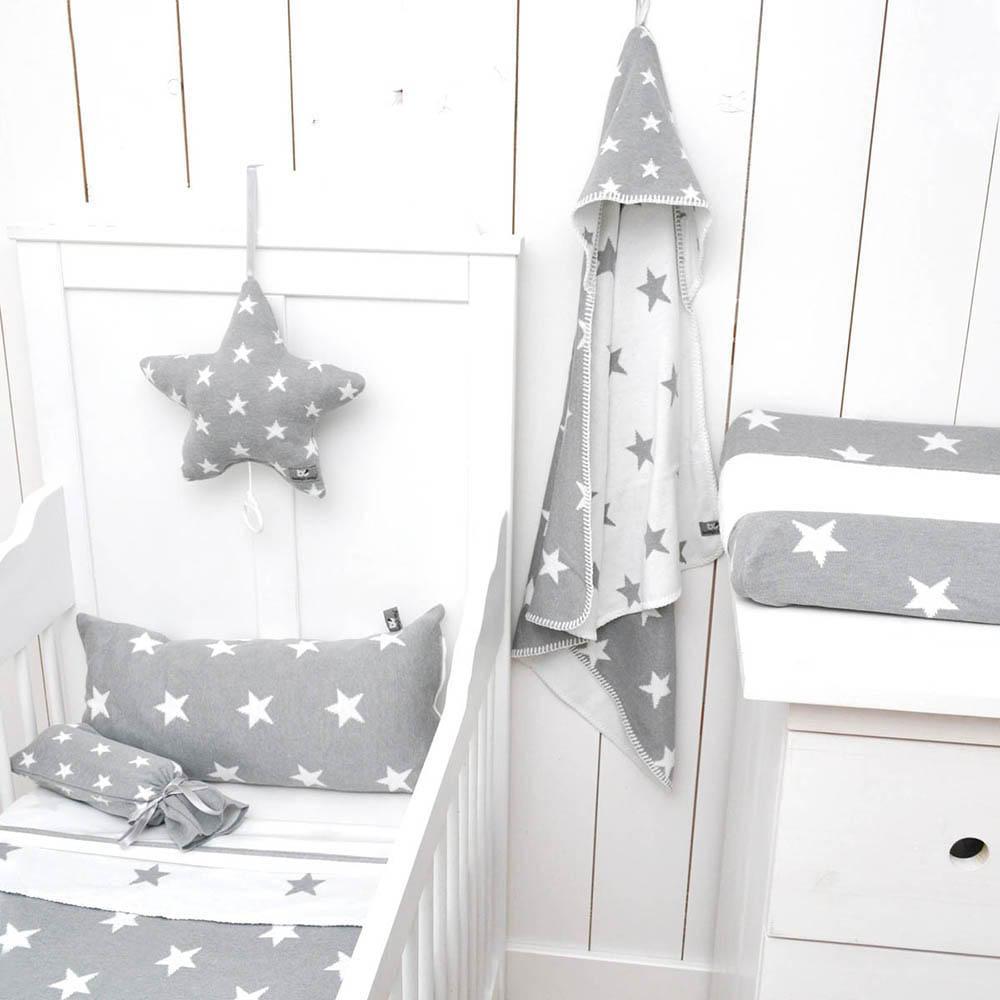 cot blanket star fuchsiawhite