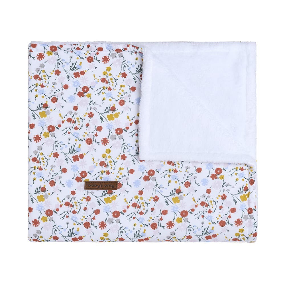 cot blanket teddy bloom