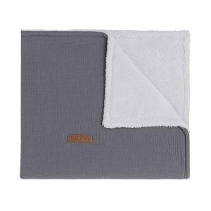 Cot blanket teddy Breeze anthracite