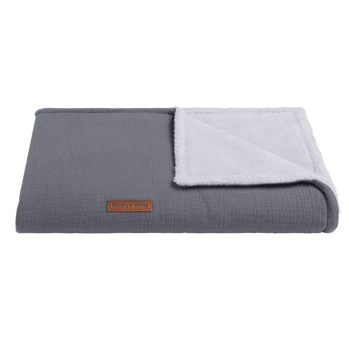 cot blanket teddy breeze anthracite
