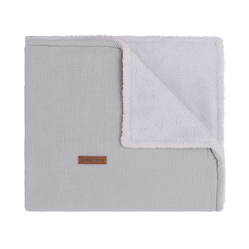 cot blanket teddy breeze grey