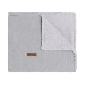Cot blanket teddy Breeze grey