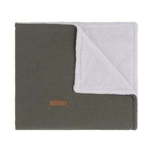 Cot blanket teddy Breeze khaki
