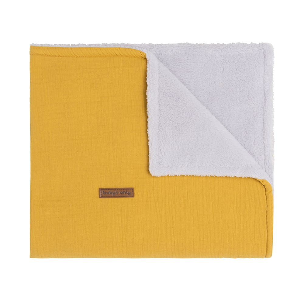 cot blanket teddy breeze ochre