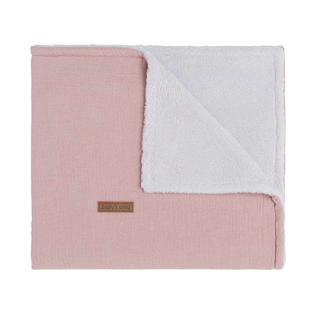 cot blanket teddy breeze old pink