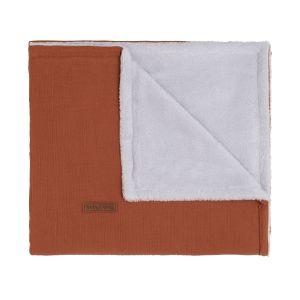Cot blanket teddy Breeze rust