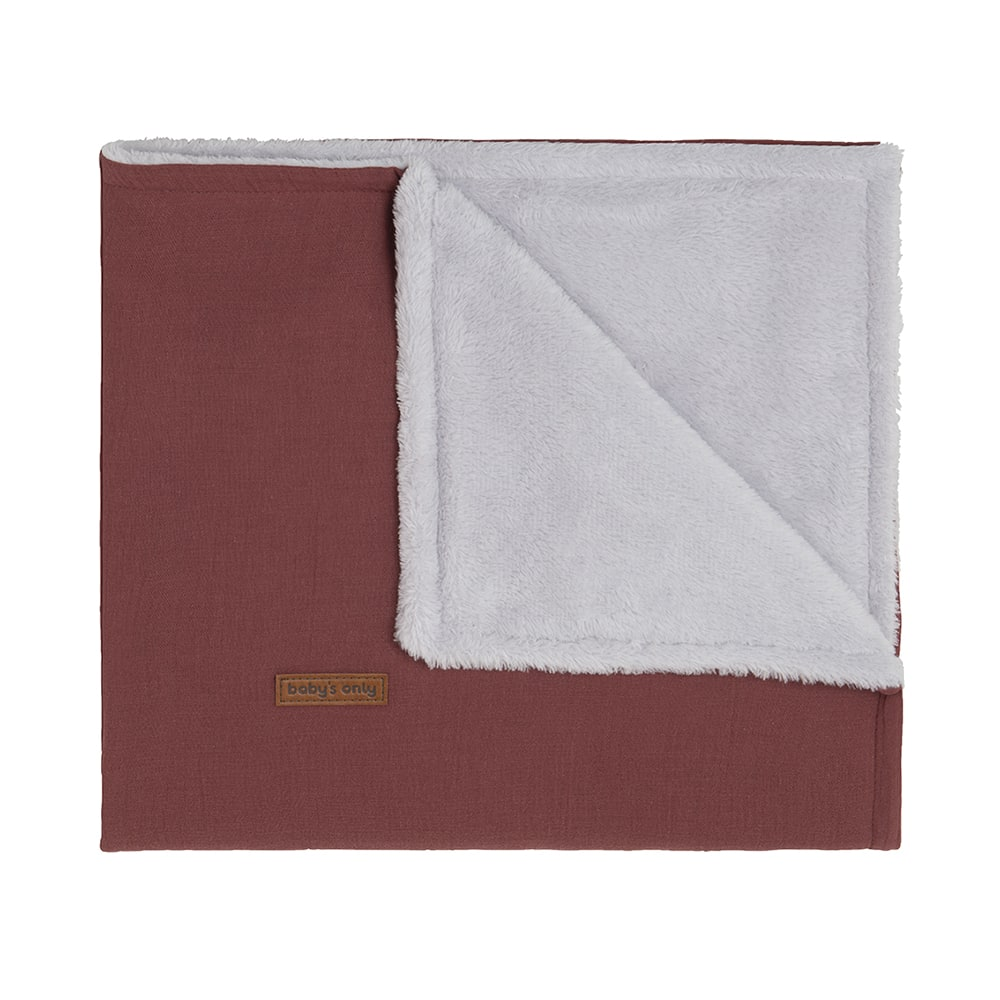 cot blanket teddy breeze stone red
