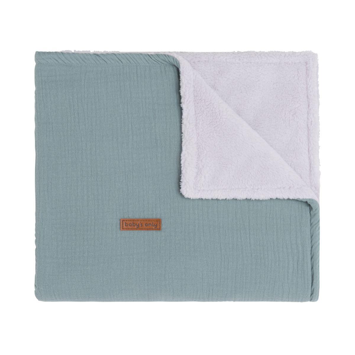 cot blanket teddy breeze stonegreen