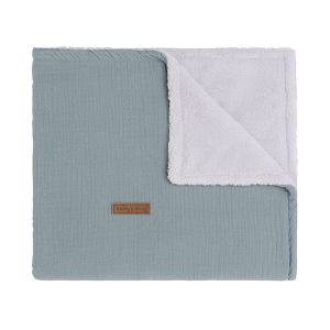 Cot blanket teddy Breeze stonegreen