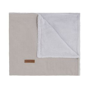 Cot blanket teddy Breeze urban taupe