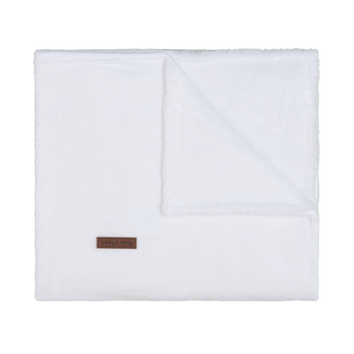 cot blanket teddy breeze white