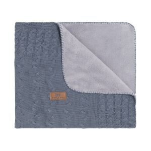 Cot blanket teddy Cable granit