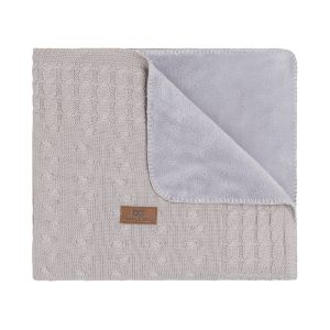 Cot blanket teddy Cable loam