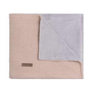 Cot blanket teddy Classic blush