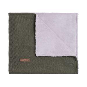 Cot blanket teddy Classic khaki