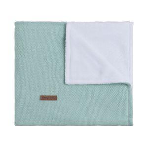 Cot blanket teddy Classic mint