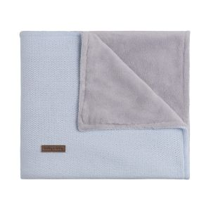 Cot blanket teddy Classic powder blue