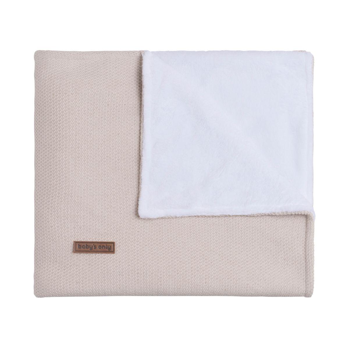 cot blanket teddy classic sand