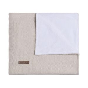 Cot blanket teddy Classic sand