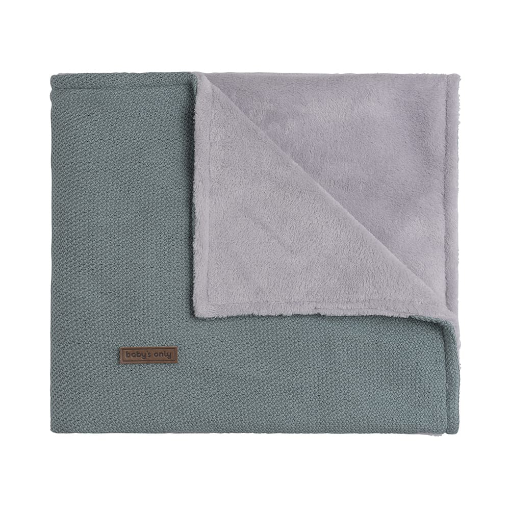 cot blanket teddy classic stonegreen