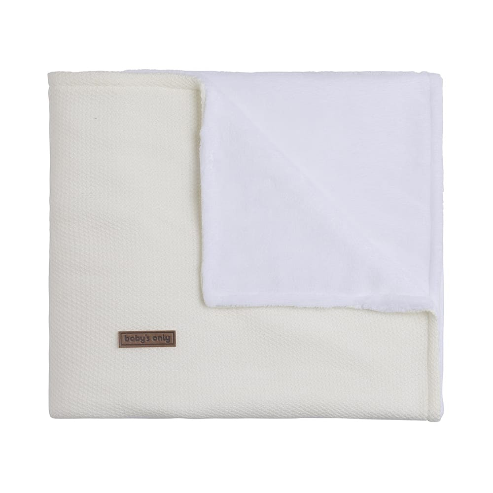 cot blanket teddy classic woolwhite