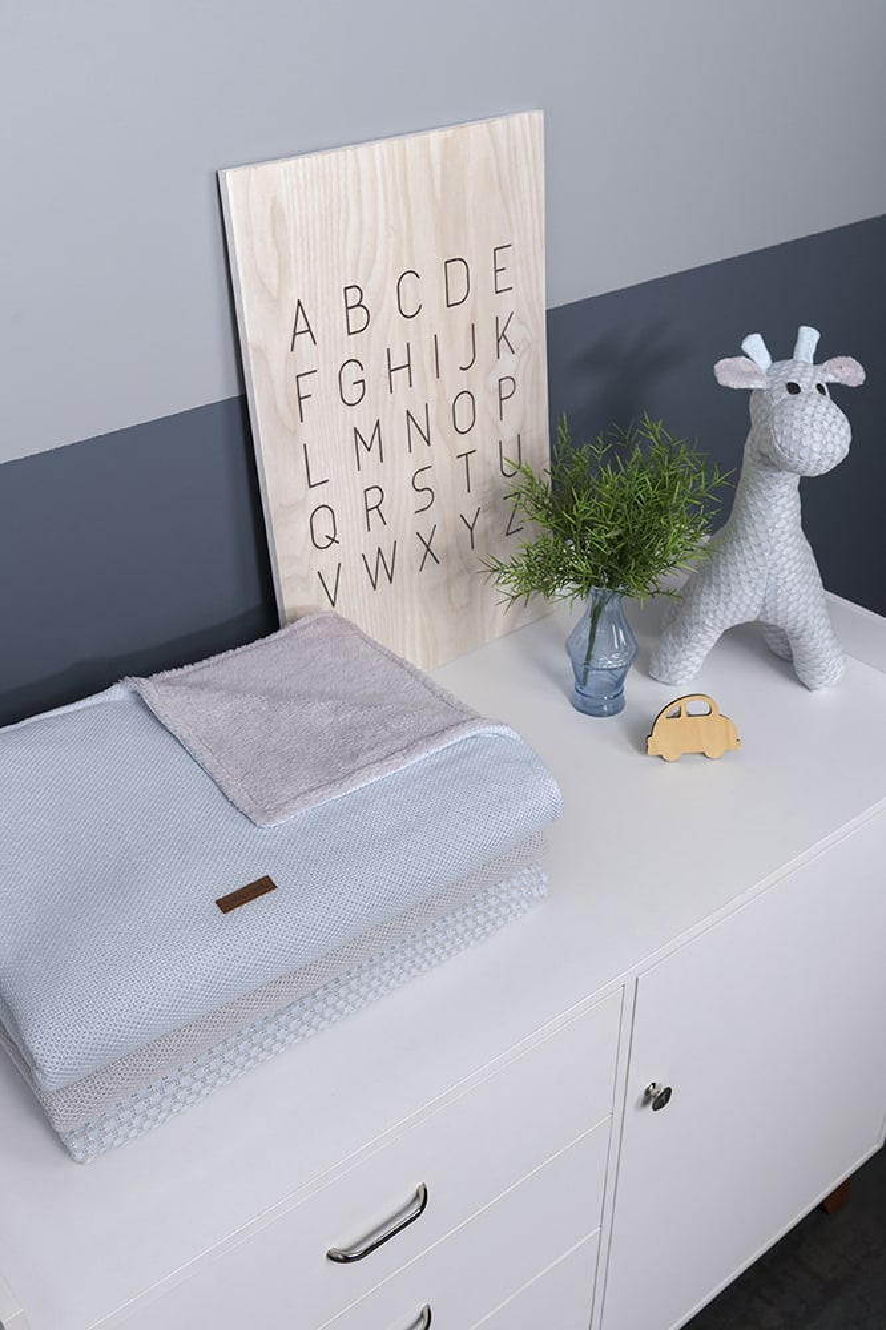 cot blanket teddy classic woolwhite