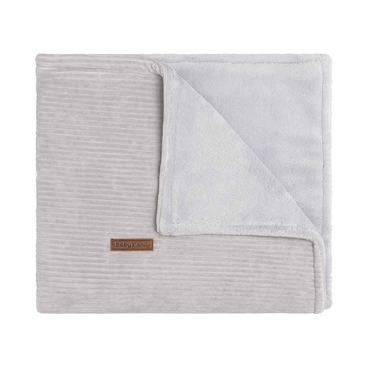 cot blanket teddy sense pebble grey