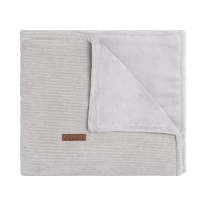 Cot blanket teddy Sense pebble grey
